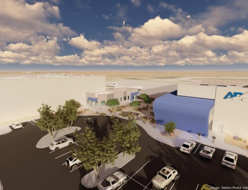 Construction begins on office, hangar buildings in Mesa